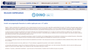 Agência O Globo destaca Bancorbrás no noticiário nacional.